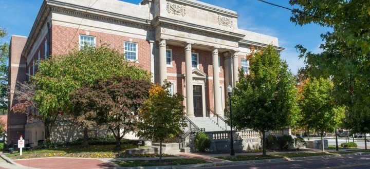 The exterior of Hendersonville's City Hall.