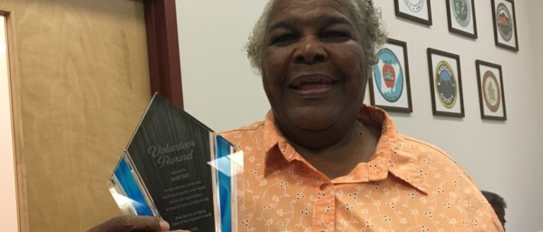 Ruby Ray with the Kathleen Godwin Cole Award
