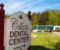 The exterior sign for Collins Dental Center.
