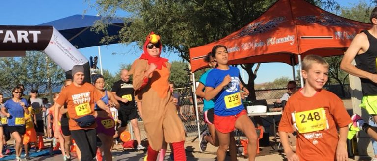 Turkey Trot participants in the annual 5k event.
