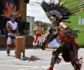 Performances dancing during the Fiesta Hendersonville festival.