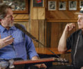 Dobro master Jerry Douglas and series host David Holt speaking to one another.