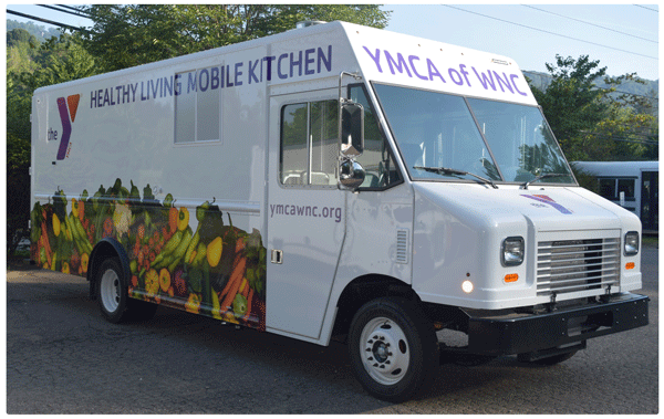 A mobile kitchen for YMCA Healthy Living.