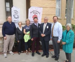 Rotary Club of Hendersonville members showing support for We Are Hope Week.