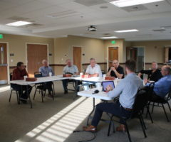 A meeting taking place for the Henderson County Water and Sewer Advisory Council.