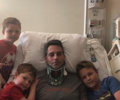 Captain Josh Poore and his children.